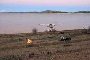camping by seaplane